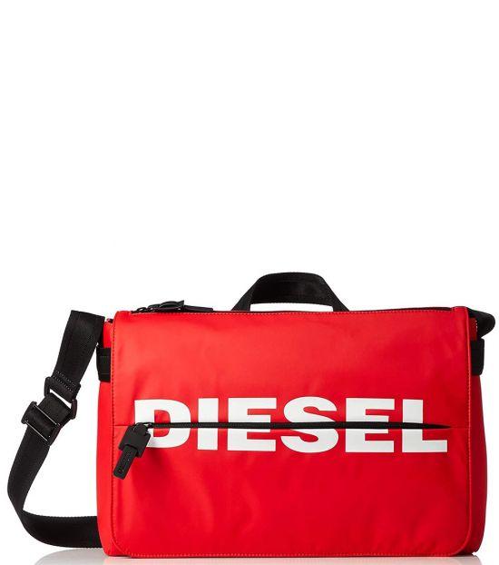 Diesel Red F-Bold Large Messenger Bag