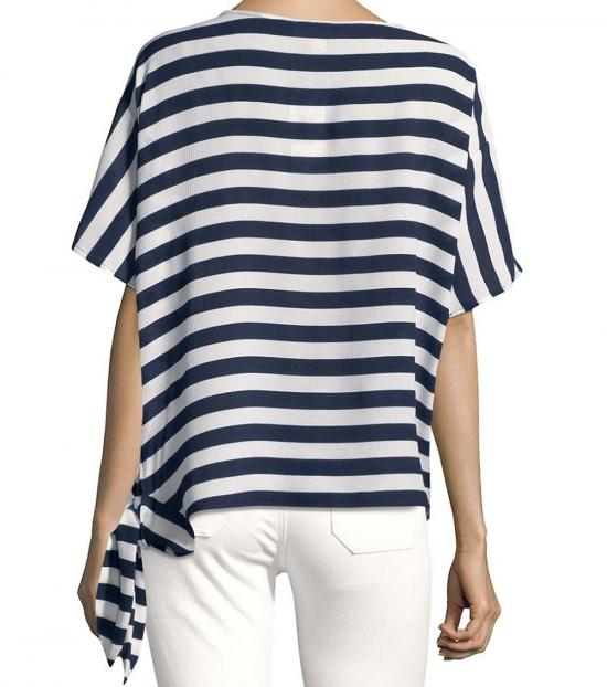 Michael Kors True Navy Graphic Striped Tee