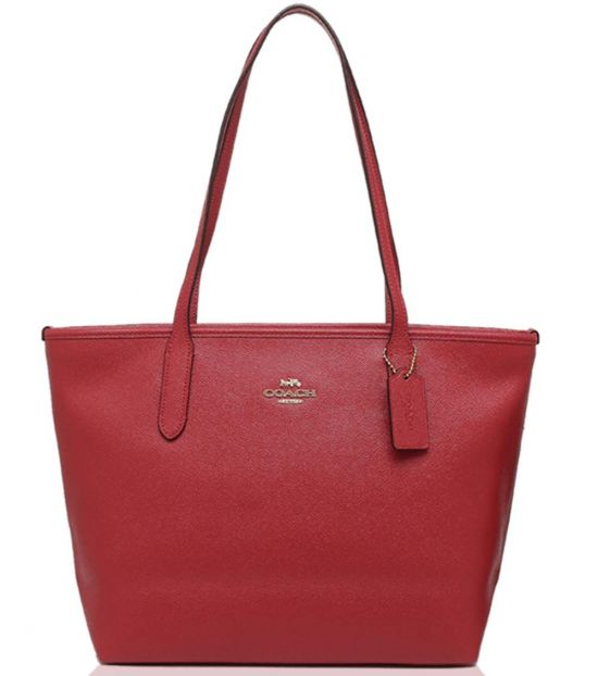 Coach True Red City Zip Large Tote