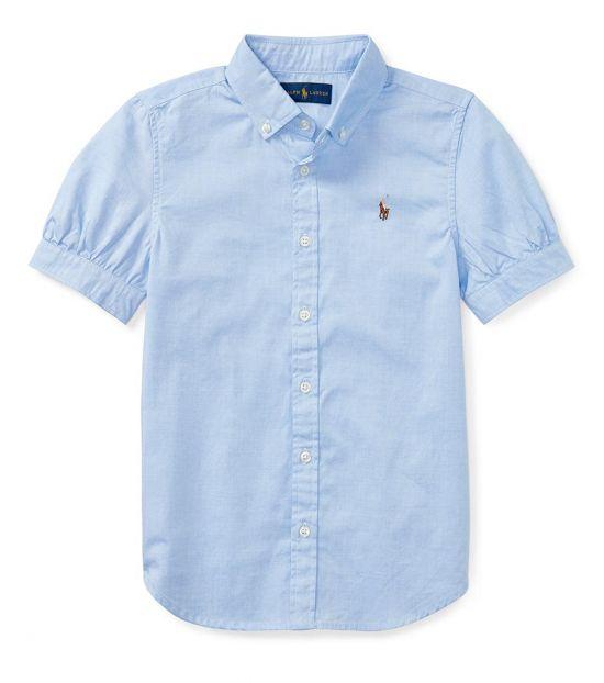 Ralph Lauren Girls Light Blue Oxford Shirt