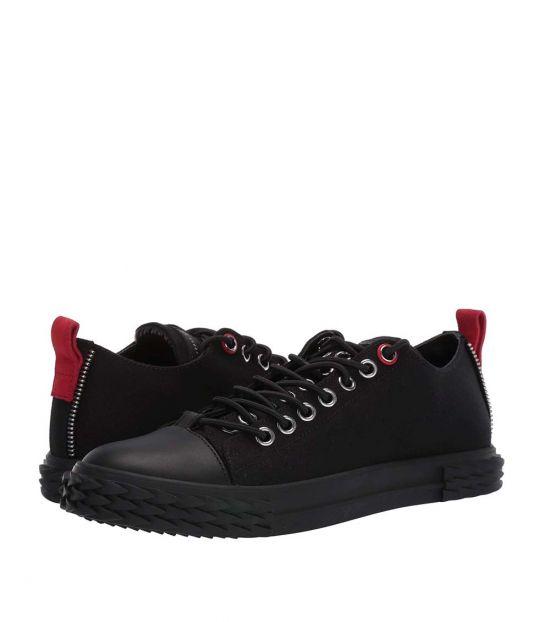 Giuseppe Zanotti Black Red Suede Sneakers