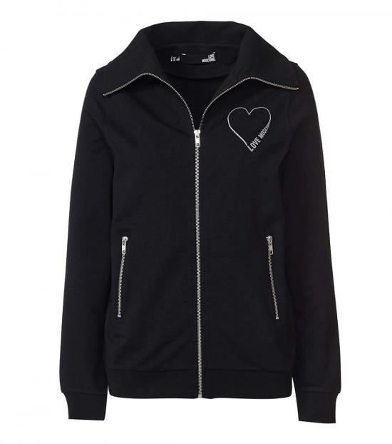 Love Moschino Black Logo Zipper Jacket