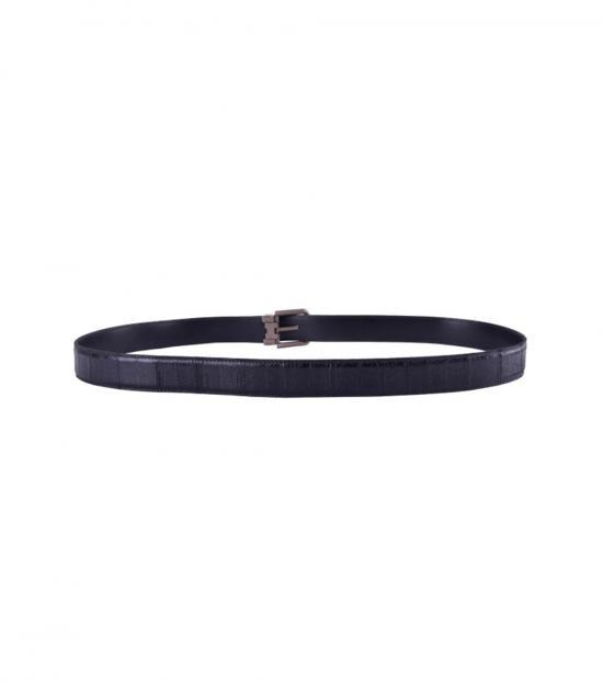 Dolce & Gabbana Black Shiny Buckle Belt