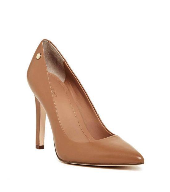 Calvin Klein Caramel Brady Leather Heels