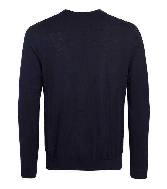 Dolce & Gabbana Dark Blue Solid Sweater