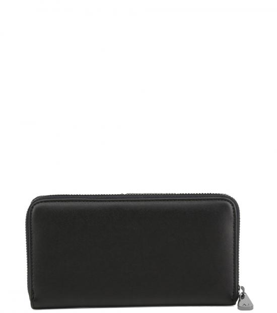 Armani Jeans Black Zip Around Wallet