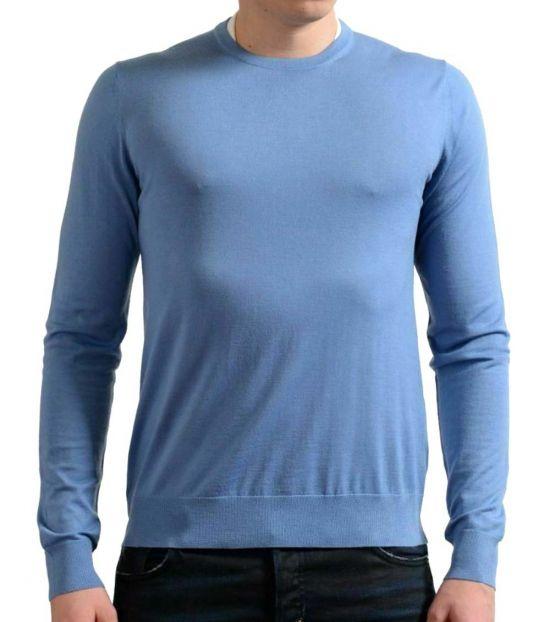 Prada Light Blue Crewneck Pullover