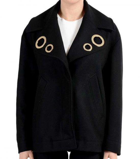 Versace Collection Black Button Down Jacket