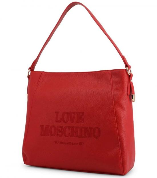 Love Moschino Red Made With Love Large Hobo