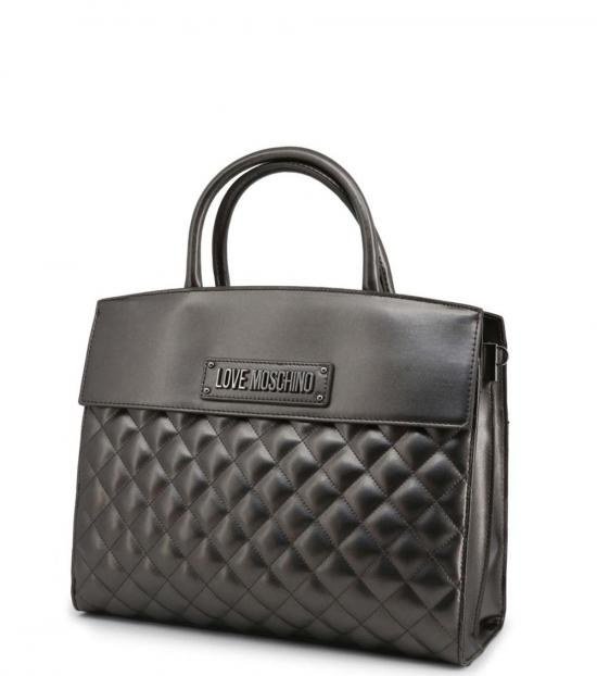 Love Moschino Metal Quilted Large Satchel