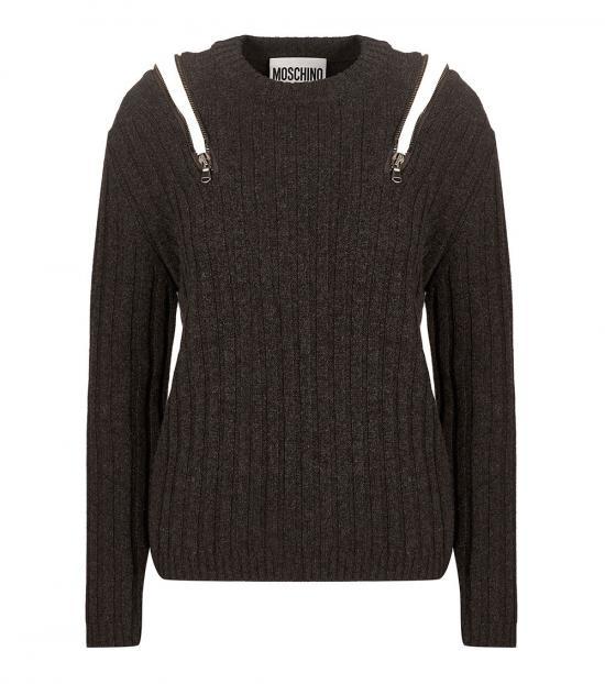 Love Moschino Dark Grey Crewneck Sweater