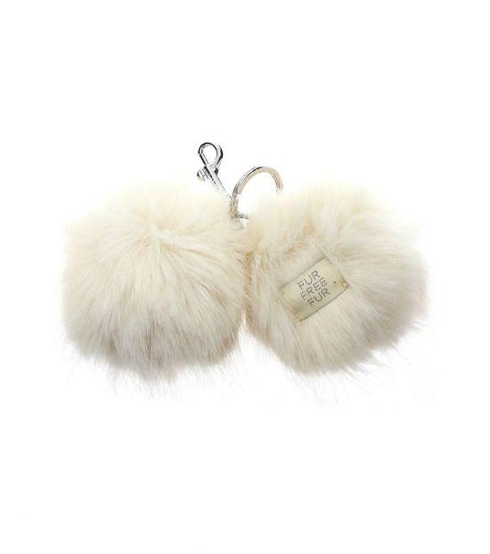 Stella McCartney White Fur Eye Key Holder