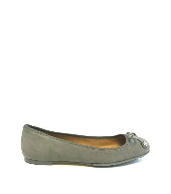 Tory Burch Grey Carbon Ballet Flats