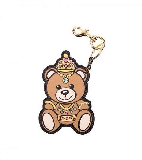 Moschino Brown Teddy Key Holder
