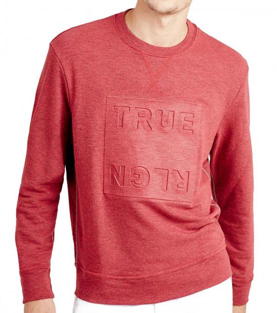 True Religion Light Coral Double Knit Sweatshirt