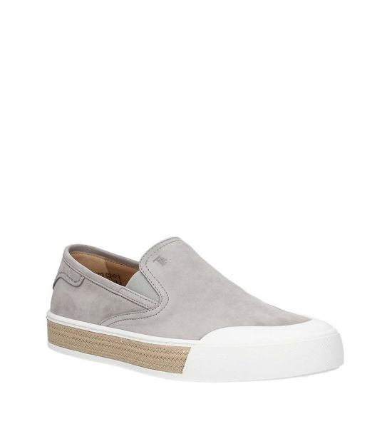 Tod's Grey Classic Suede Loafers