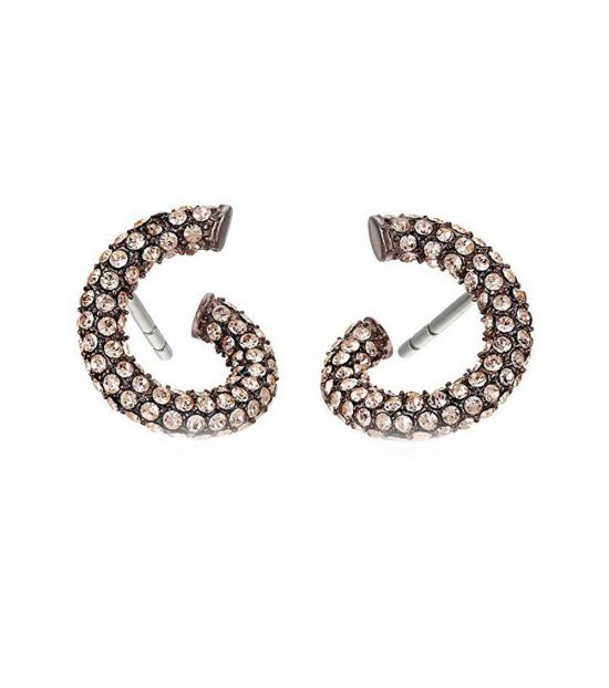 Michael Kors Metal Crystal Twist Earrings Earrings