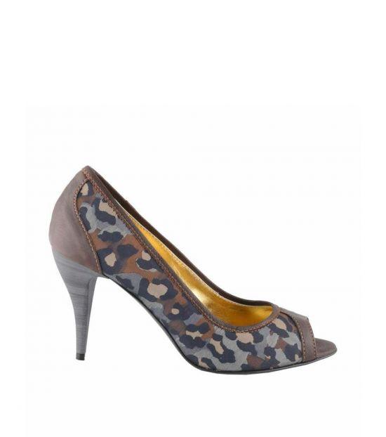 Just Cavalli Multicolor Peep Toe Heels