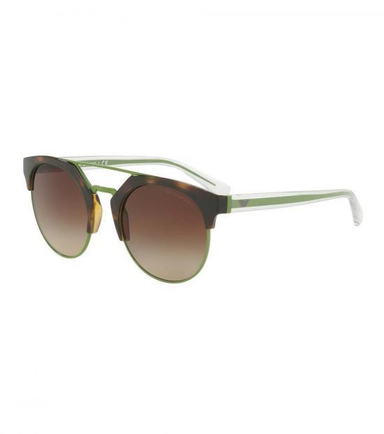 Emporio Armani Havana-Apple Gleaming Sunglasses
