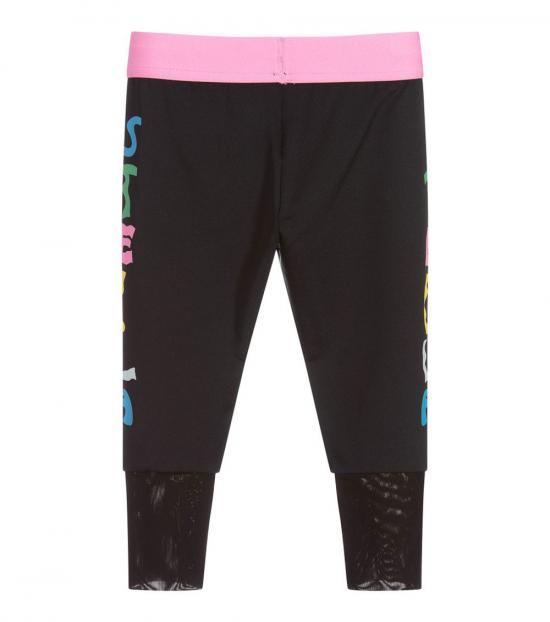 Stella McCartney Girls Black Side Logo Leggings