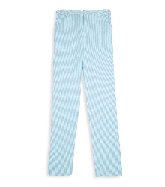 Oscar De La Renta Boys Light Blue Slim Pants