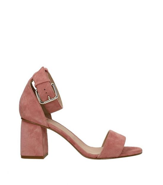 Red Valentino Pink Open Toe Suede Heels