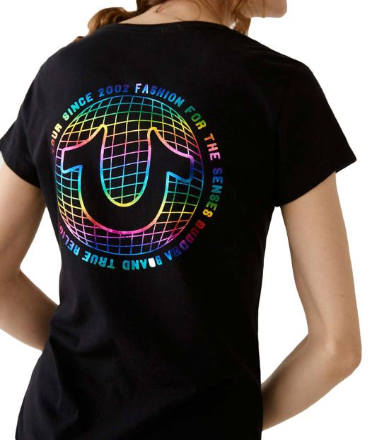 True Religion Black Logo Tee