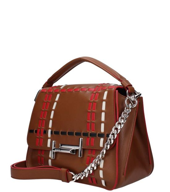 Tod's Light Brown Double T Small Satchel