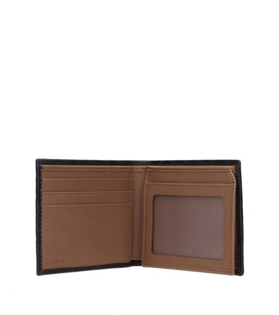 Salvatore Ferragamo Brown Logo Embossed Wallet