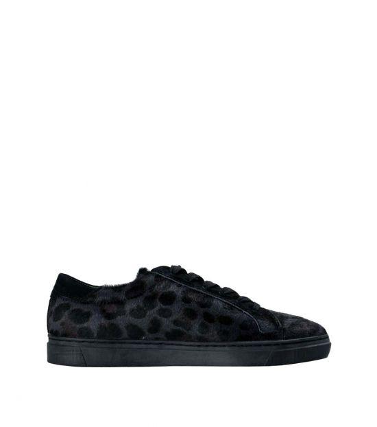 Dolce & Gabbana Grey Black Animal Print Sneakers