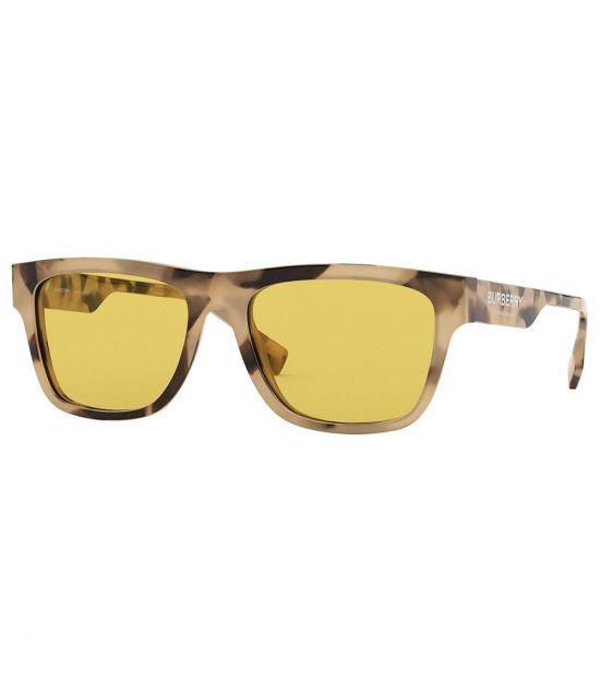 Burberry Yellow-Tortoise Square Sunglasses