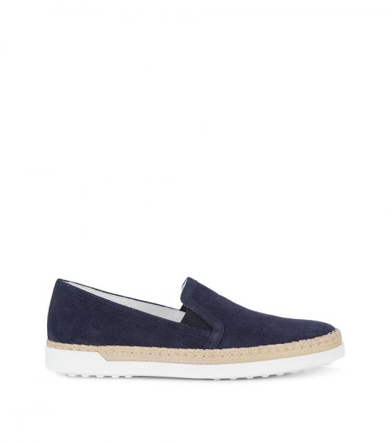 Tod's Blue Suede Loafers