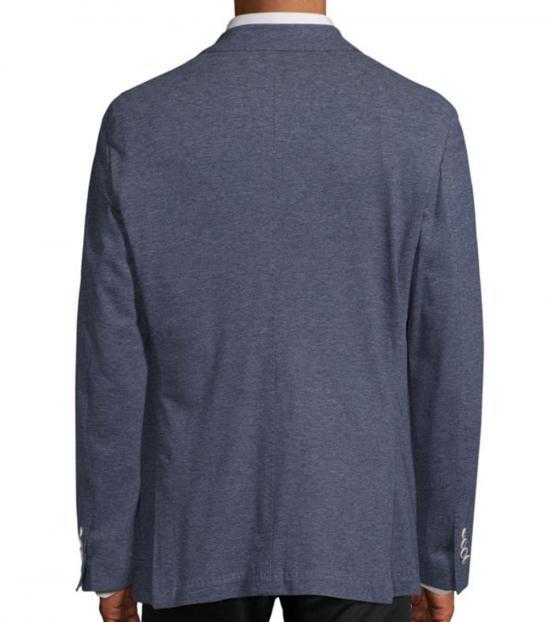 Canali Blue Slim-Fit Jersey Sportcoat