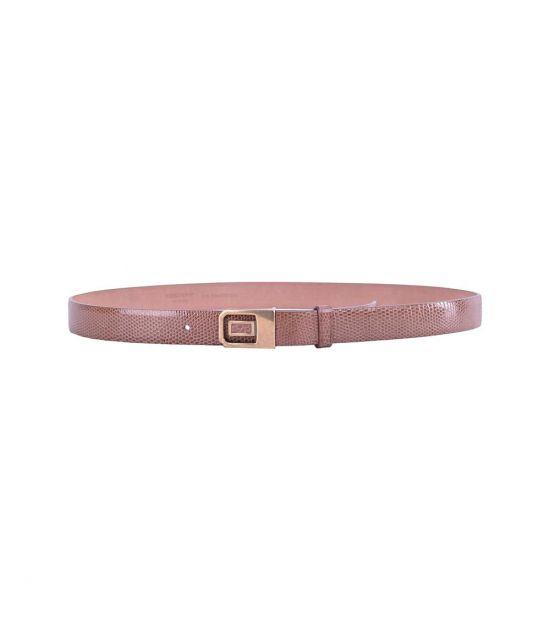 Dolce & Gabbana Brown Plaque Buckle Belt