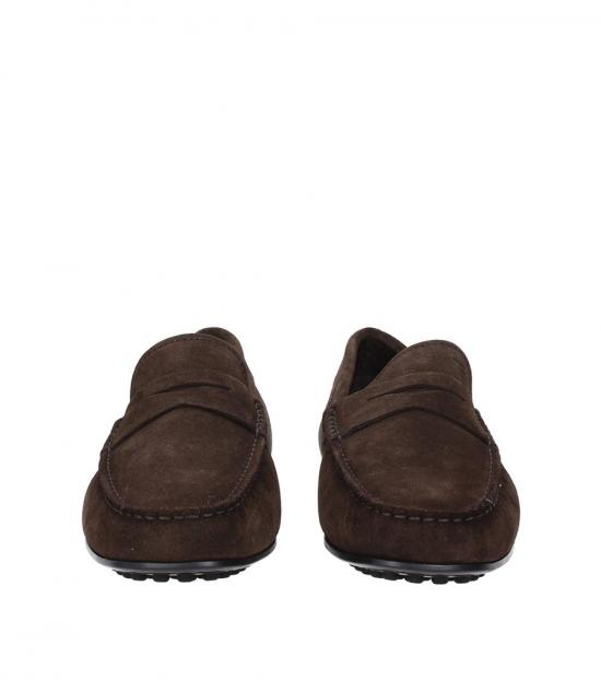 Tod's Brown Penny Suede Loafers