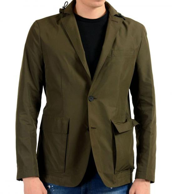 Hugo Boss Green Two Button Blazer