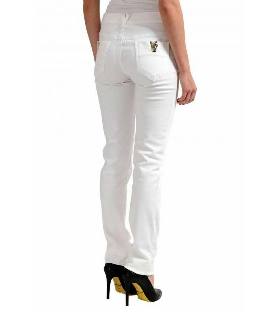 Versace Jeans White Straight Leg Jeans