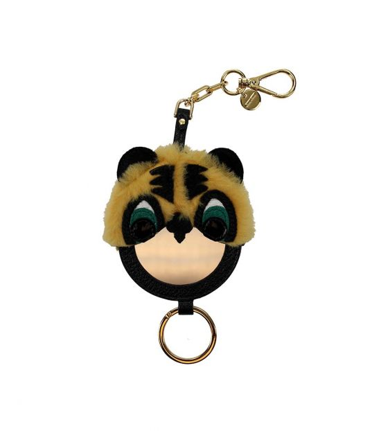 Miu Miu Black Mirror Detail Key Holder