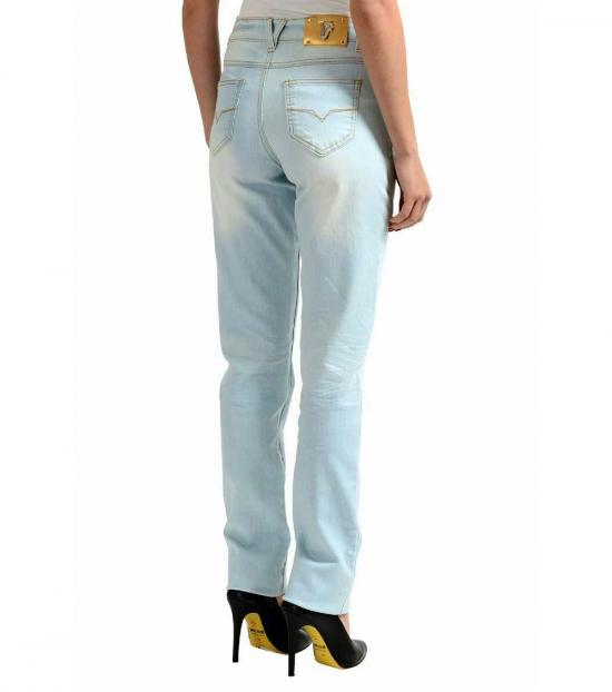 Versace Jeans Light Blue Straight Legs Jeans