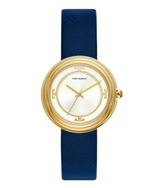 Tory Burch Navy-Gold Bailey Watch