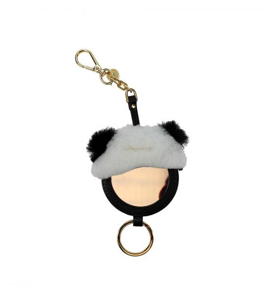 Miu Miu Black Mirror Detail Key Holder