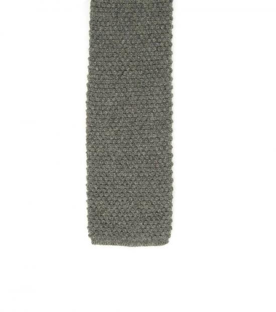 Tom Ford Grey Knit Silk Skinny Tie