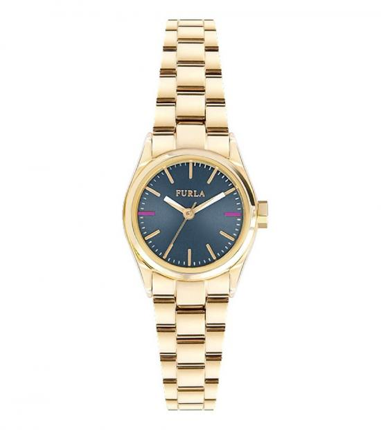 Furla Gold Eva Blue Dial Watch