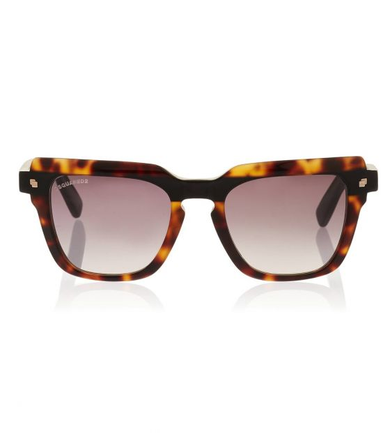Dsquared2 Brown-Grey Square Sunglasses