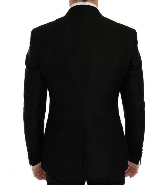 Dolce & Gabbana Black Blue Martini Blazer