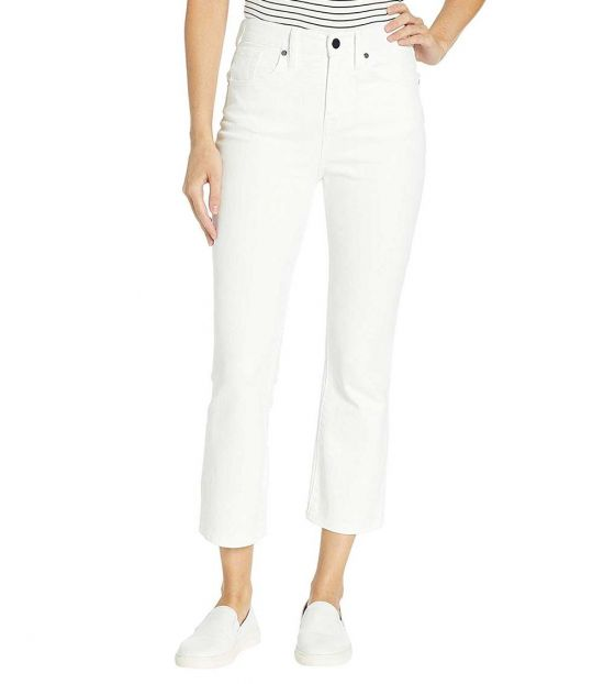 BCBGMaxazria White Cropped Stretch Jean