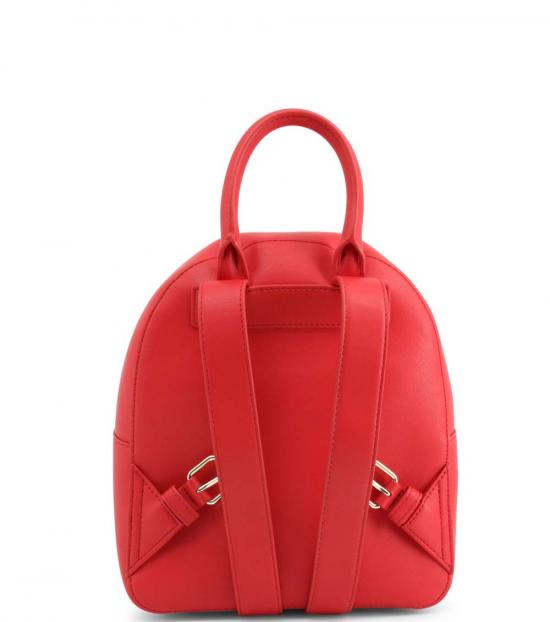 Love Moschino Red Studded Heart Small Backpack