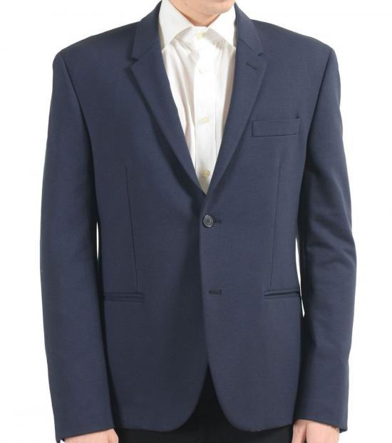 Versace Collection Blue Two Button Blazer
