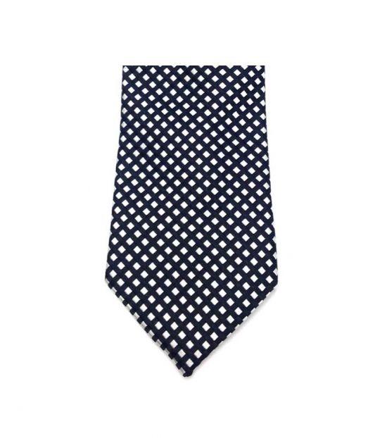 Michael Kors Black & White Classic Geo Slim Silk Tie