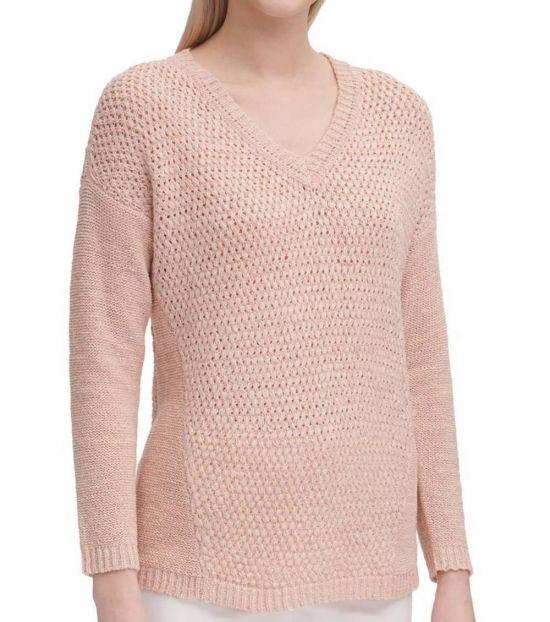 Calvin Klein Blush Knitted Pullover Sweater